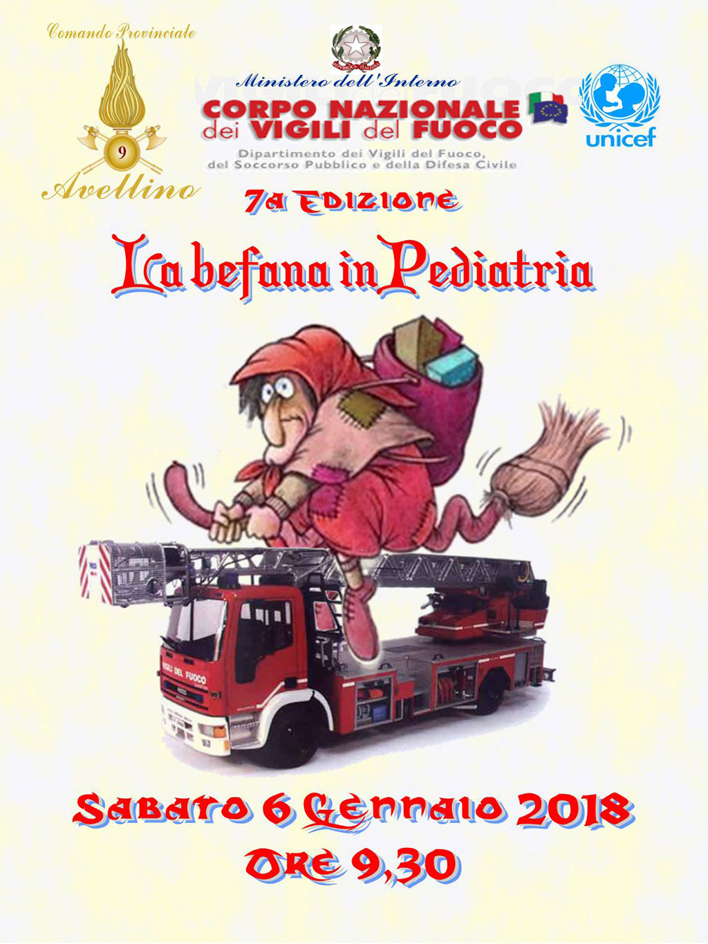 VdF befana in pediatria 2018