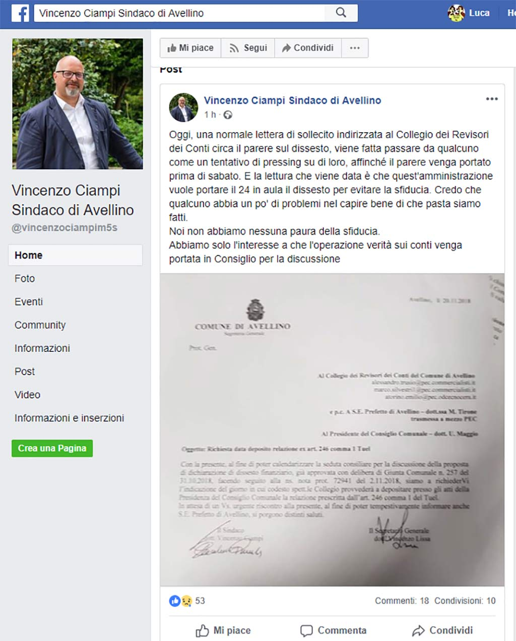 post ciampi nota revisori