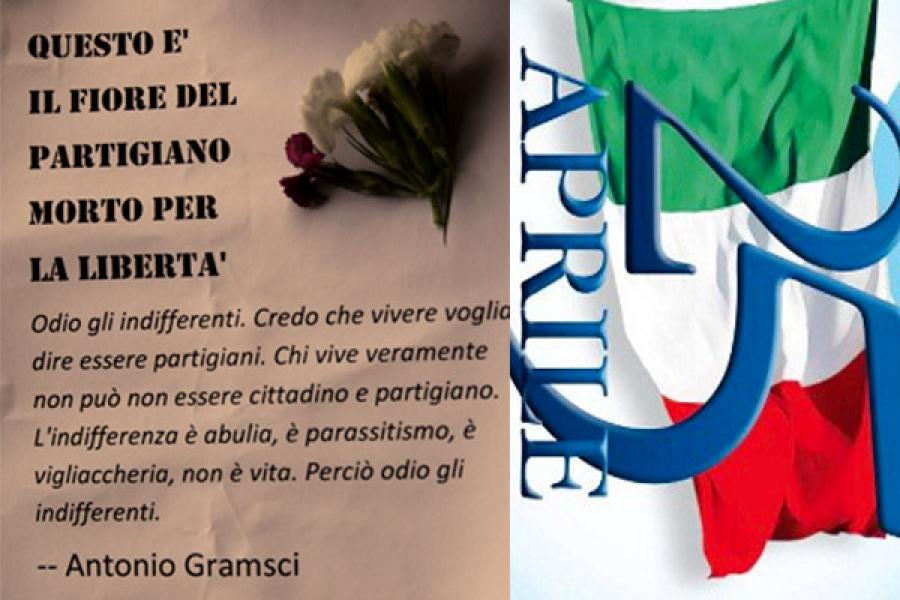 25 Aprile I Ragazzi Delluds Regalano Le Frasi Di Gramsci E Calamandrei